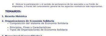 Capacitación Básica en Economía Solidaria